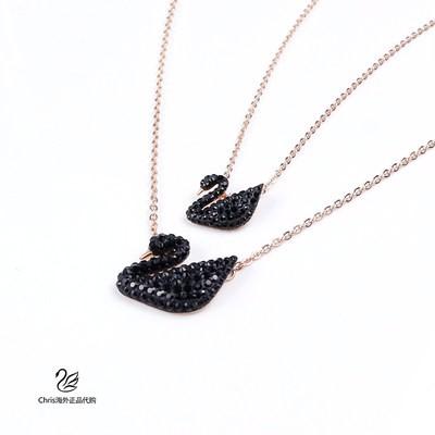 Ρ☁สร้อยคอ Swarovski หรูหราเบาๆหงส์ดำแมตช์ง่ายสร้อยคอจี้สร้อยคอหญิงของขวัญวันเกิด5204133