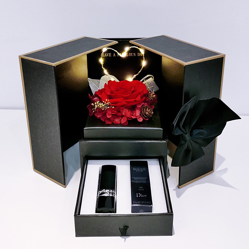 Dior ลิปสติกDior Lipstick Gift Box Set 999 Matte Moisturizing 740/888/520 Big Brand Genuine Limited Edition