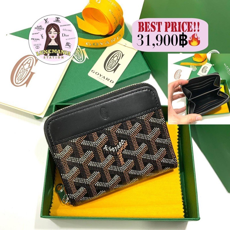 👜: New!! Goyard Short Zippy Wallet in Black