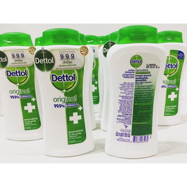 เดทตอล Dettol เจลอาบน้ำ สูตรออริจินอล 180 กรัม สามารถใช้แทนเจลล้างมือได้ ลดการสะสมเชื้อแบคทีเรียได้ถึง 99.9%