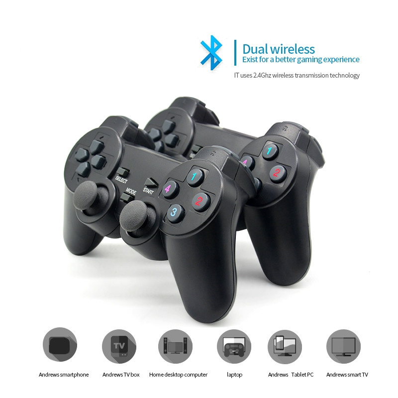 Players 2 4g Wireless Game Gamepad Controller For Android Tv Box For Pc Joysticks Shopee Thailand