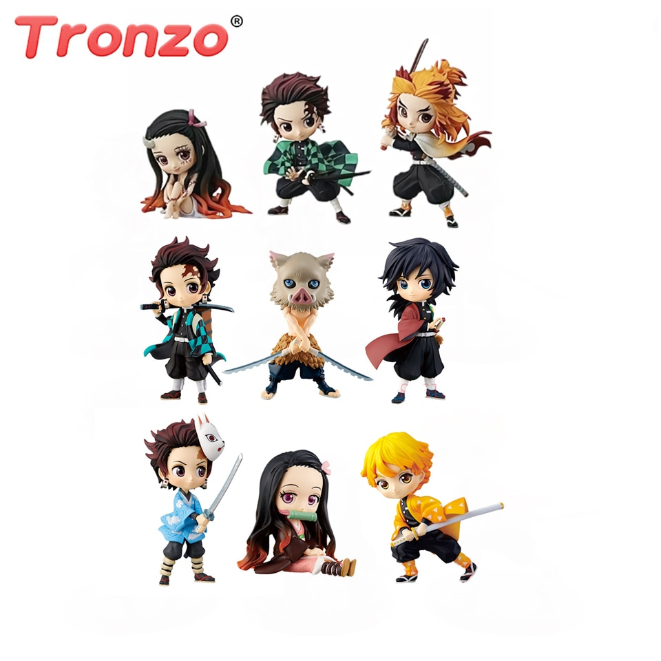 Tronzo Demon Slayer Kimetsu no Yaiba Q posket Kamado Tanjirou Nezuko Zenitsu Giyuu Inosuke PVC Figure Model Collection D