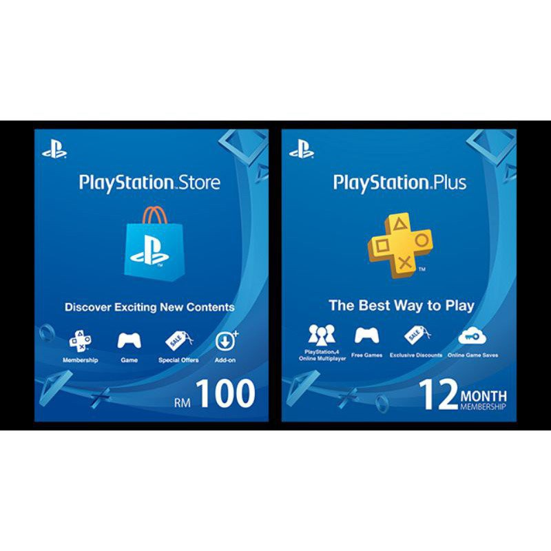 M7fm Playstation Top Up   Playstation Gift Card(my)   Playstation Plus Ps Plus.