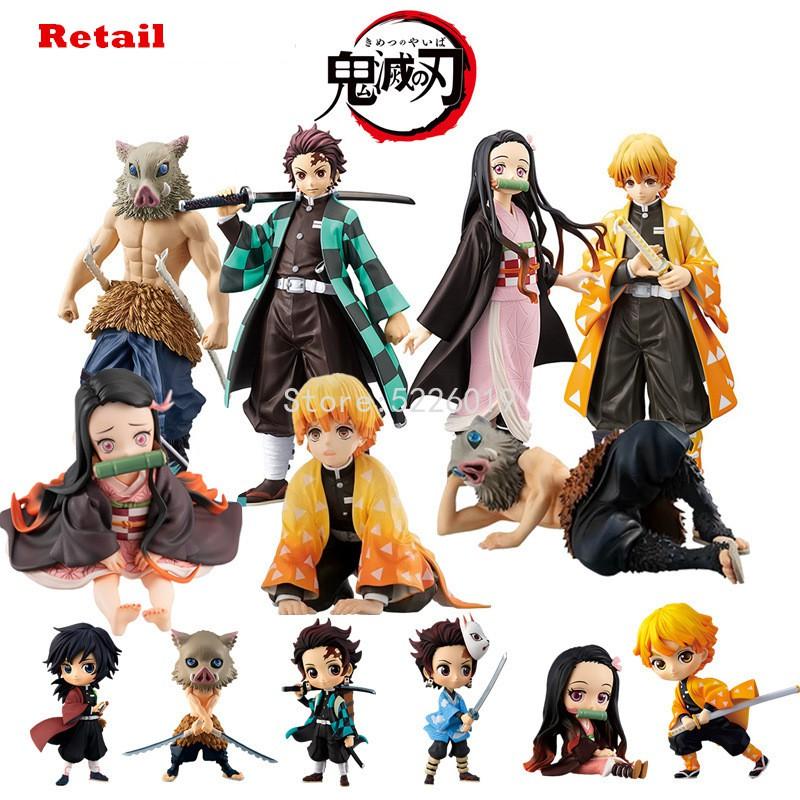 Anime Figure Demon Slayer Kimetsu Nezuko Tanjirou-Zenitsu Toys-Model No