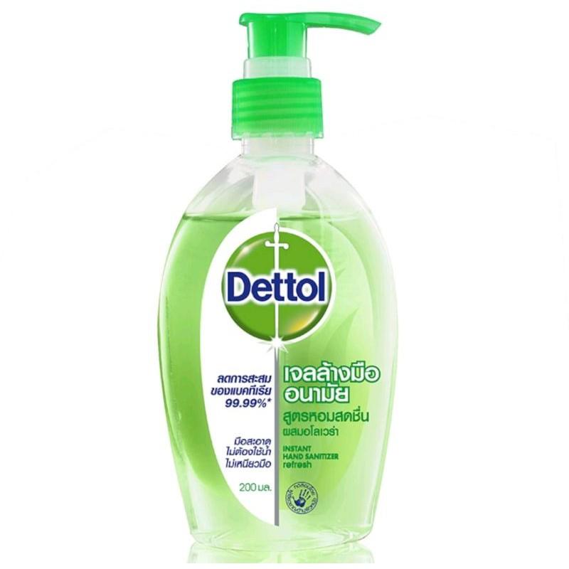 เจลล้างมือ Dettol Alovera Hand Gel 200ml