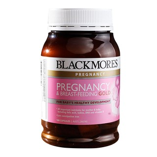 Blackmores Pregnancy Breast Feeding Gold For Baby S Healthy Development 180 Capsules มารดาท ต งครรภ และให นมบ ตร ค ณภาพส ง