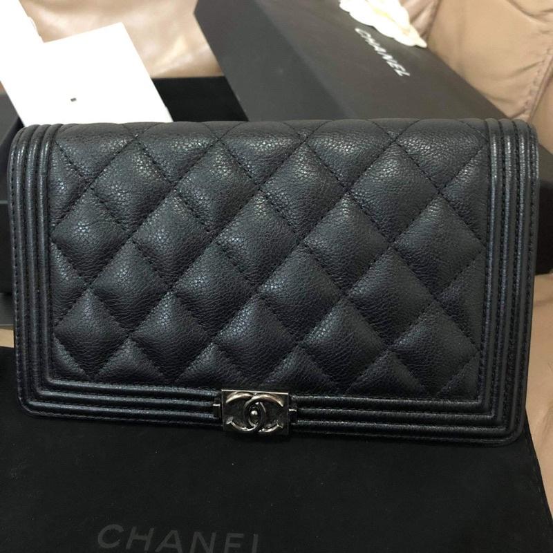 Chanel wallet boy holo 22