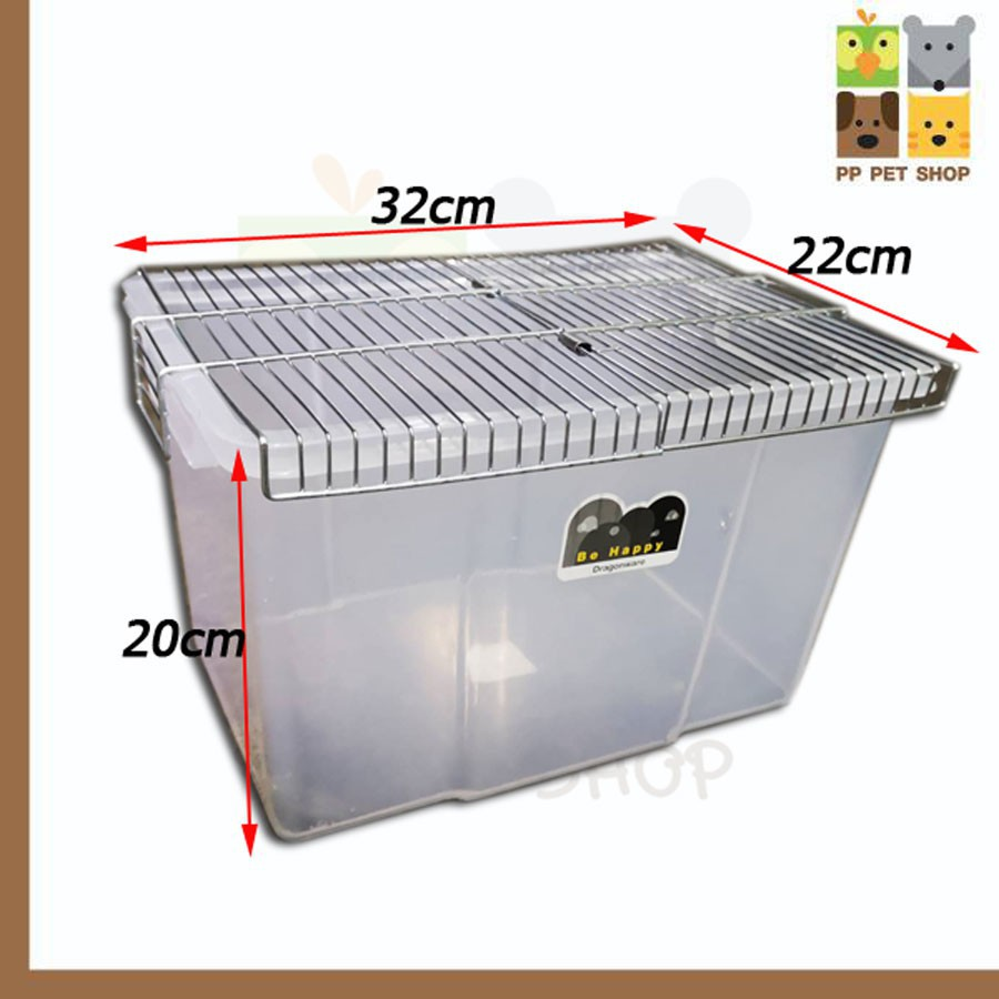 กล่องเพาะเม่น กล่องเพาะหนูแฮมเตอร์ และนก ขนาด 22 x 32 x 20 cm พร้อมฝาตระแกง ราคา 180 บ.กรงนกและตาข่าย