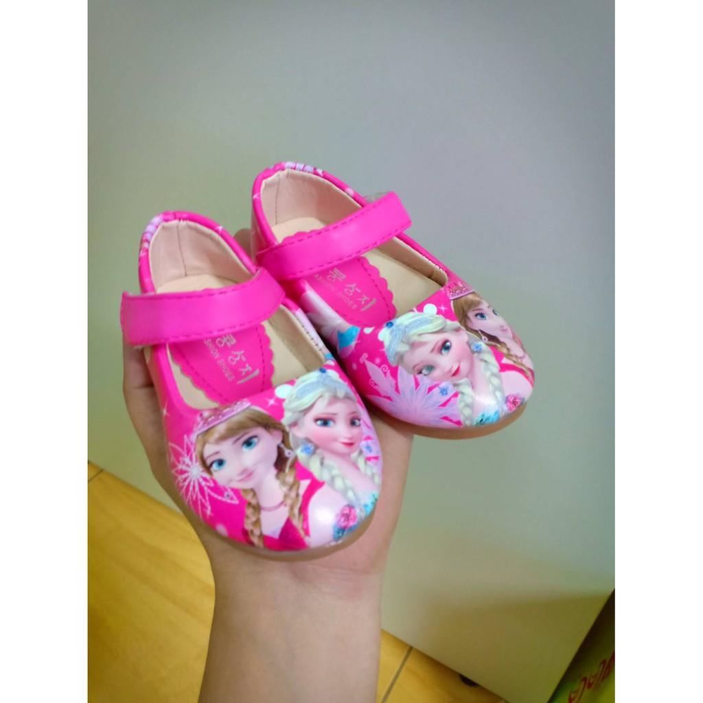 รองเท้าคัชชูสำหรับเด็กผู้หญิง ลายเอลซ่าน่ารัก ใส่สบาย ไชส์21-25