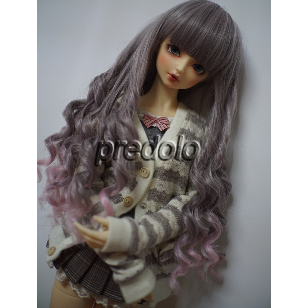 Girl BJD Ball-jointed Doll SD Super Dollfie Centre Parting Hair Piece Curly Wig