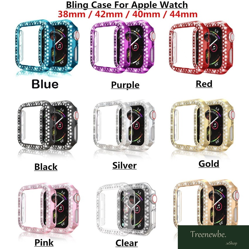 IWatch Band Protective Case for Apple Watch Cover Series SE 6 5 4 3 2 1 38MM 42MM 40MM 44MM Diamond Bumper Strap Cases