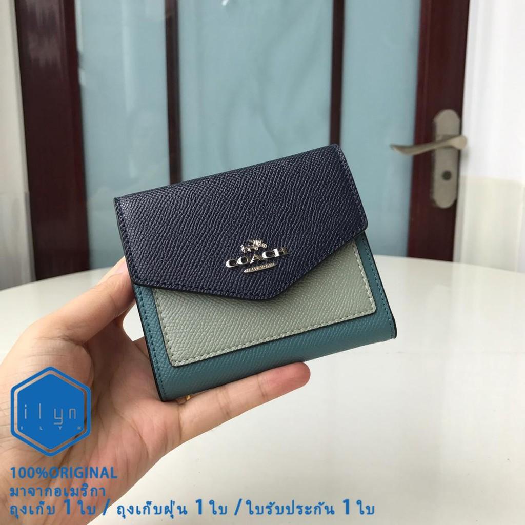 ✔ใหม่ Coach F31548 / F27252 F12123 กระเป๋าสตางค์ใบสั้น กระเป๋าสตางค์การ์ด กระเป๋าใส่เหรียญ กระเป๋าสตางค์พับ กระเป๋าสตาง
