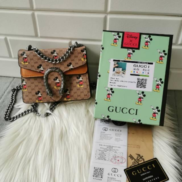 Gucci Dionysus X Disney กระเป๋าลายดิสนีย์