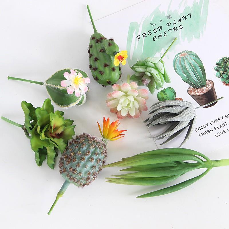【กระบองเพชร】การจำลองไม้อวบน้ำ, ต้นกระบองเพชรสีเขียว, การตกแต่งร้าน, ผนัง, ดอกไม้ปลอม, ของตกแต่งห้องนั่งเล่นในบ้าน, เค