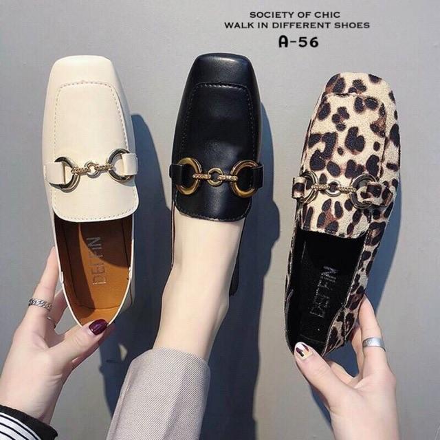 รองเท้าคัชชูส้นเตี้ย