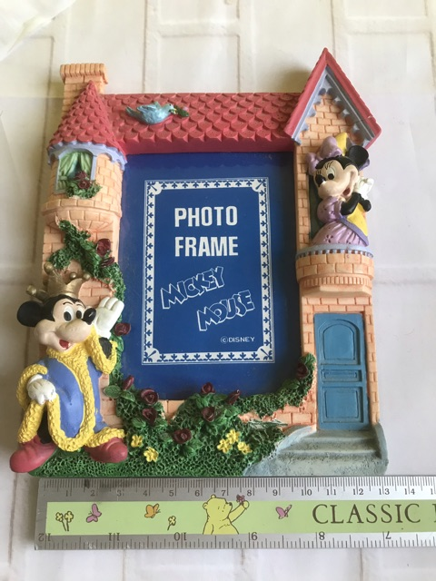Disney Classic Mickey Collection Blue Mickey /& Minnie Mouse Figure Photo Frame