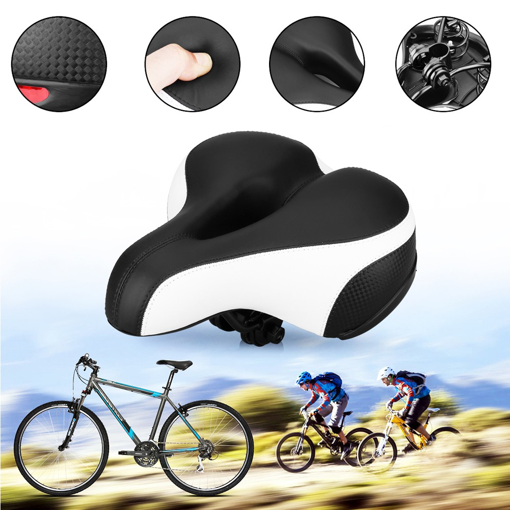 Road Mountain Bike Bicycle Saddle Seat Soft Gel Padded Cushion Cover Reflective