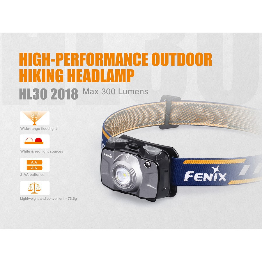 ไฟฉายคาดหัว ไฟคาดหัว ไฟฉายคาดหัว FENIX HL30  สินค้าตัวแทนในไทยมีประกัน  3 ปี