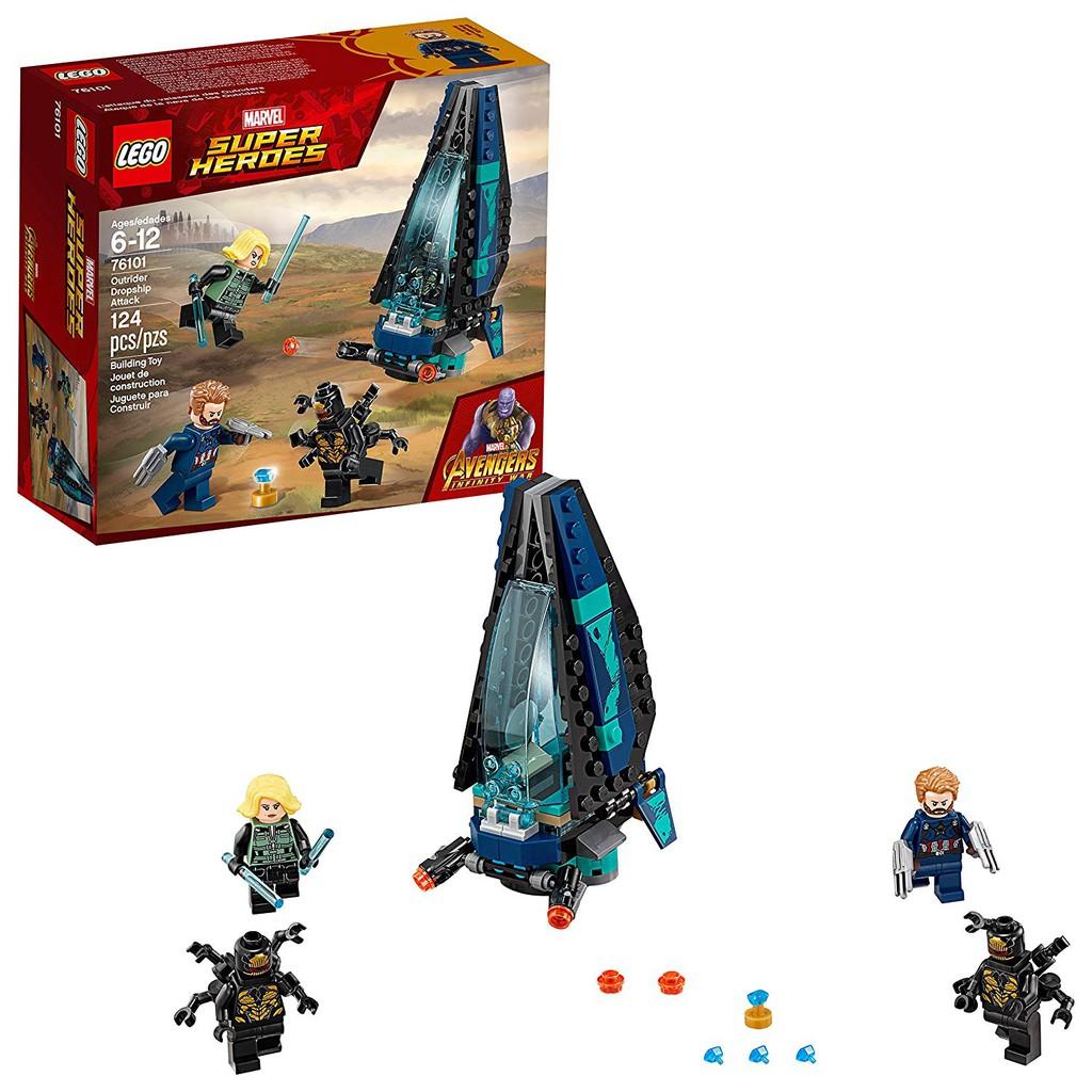 ใหม่ Lego Marvel Marvel Avengers Lego 76101 Pioneer Transport Ship โจมตีเรือ
