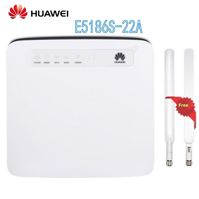 Unlocked Huawei E5186s-22a 4G LTE Wireless Router 4G Wifi Dongle Cat6 FDD  TDD Mobile Hotspot Cpe Router Cat6 300Mbps