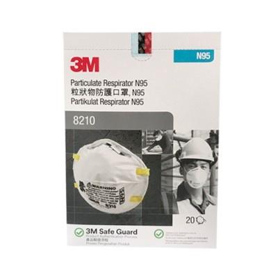 ❍❈หน้ากากกันฝุ่นละออง PM2.5 (20ชิ้น/กล่อง) 3M 8210 N95