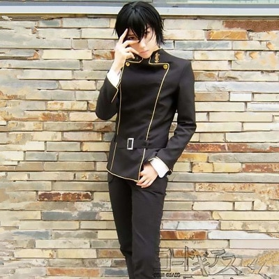 Hight Quality Anime CODE GEASS Lelouch of the Rebellion Lelouch Lamperouge  Hallowmas Man Cosplay Costume Top + Pants + Belt