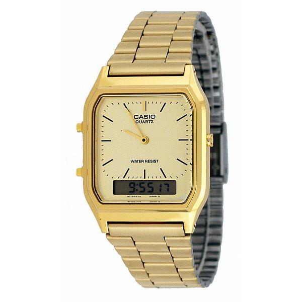 🎆ของแท้ 100%🎆 นาฬิกาข้องมือ CASIO AQ- 230GA สายสแตนเลส สีทอง