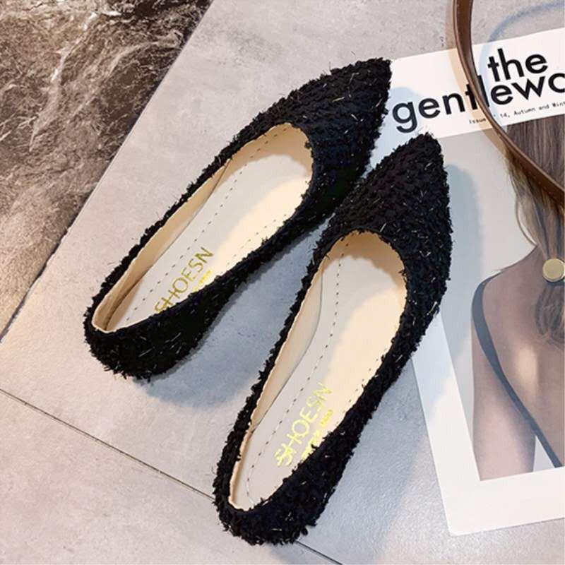 ❤️รองเท้าคัชชู หัวแหลม รองเท้าส้นแบนรองเท้าผู้หญิงรองเท้ารองเท้าแฟชั่นรองเท้าคัชชูส้นเตี้ยใส่สำงานถูกสุดใส่นิ่มสบายเท้า