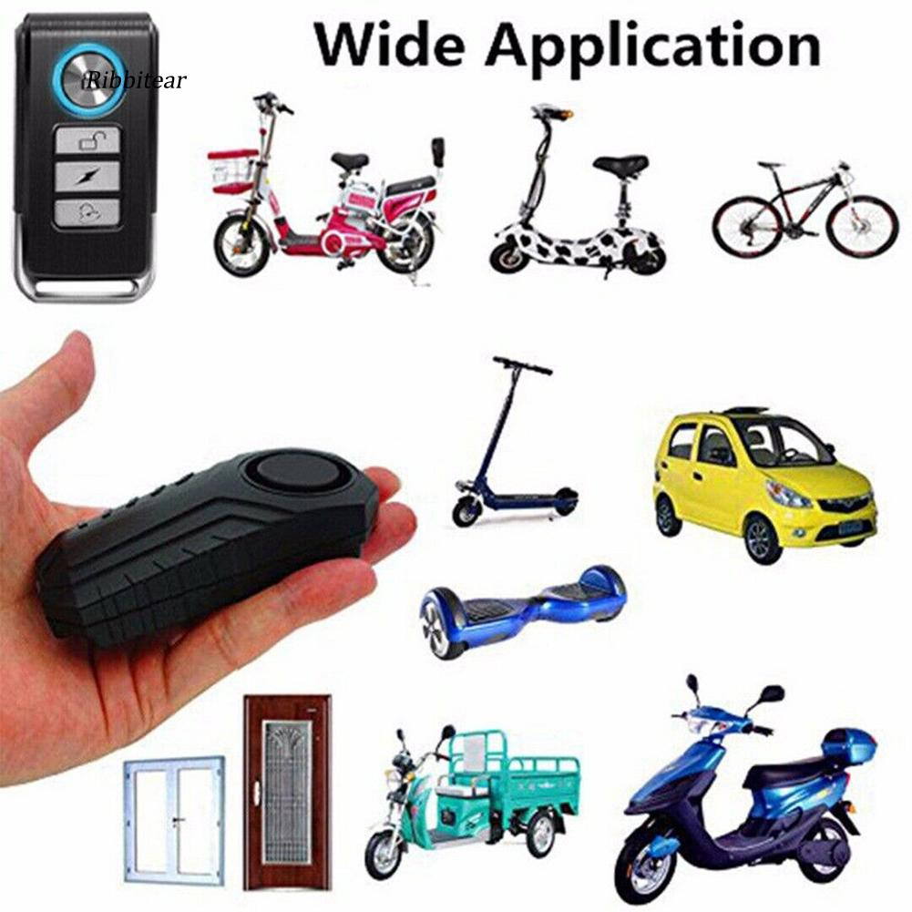Remote 113dB Wireless Anti-Theft Vibration Motorcycle Bike Security Alarm