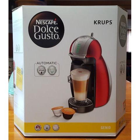 เครื่องทำกาแฟแคปซูล KRUPS Nescafe Dolce Gusto รุ่น KP160566 Genio Red