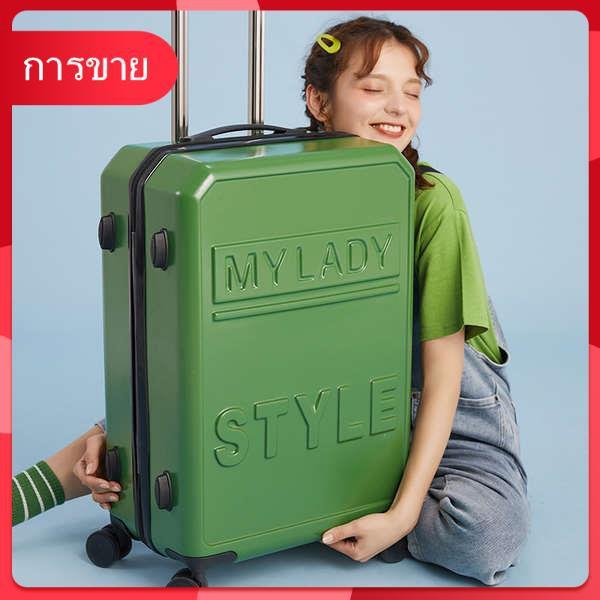 กระเป๋าเดินทางสุทธิรถเข็นสีแดงกระเป๋าเดินทางใหม่ล้อสากลชาย ins รหัสผ่านกล่อง 20 นิ้ว 24 กล่องหนัง 26