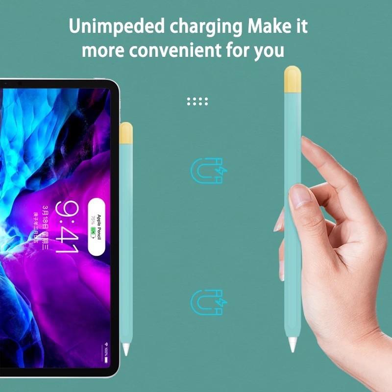 ✺□❅ปลอก สำหรับPencil 1&2 Case เคส ปากกา ซิลิโคน ปลอกปากกาซิลิโคน เคสปากกาสำหรับApplePencil silicone sleeve