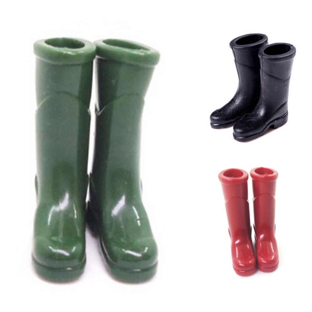 Pair 1//12 Red Rubber Rain Boots Dollhouse Miniature Font Door Decor Accs