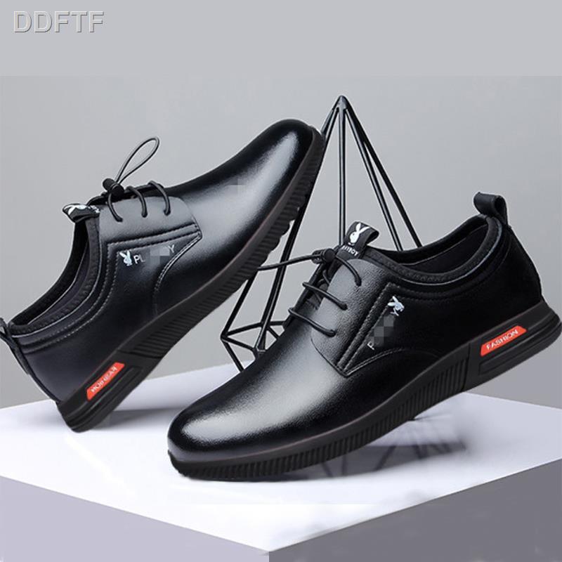 🌷สินค้าคุณภาพดีราคาถูก🌷✟Kyayai รองเท้าคัชชูผู้ชายเย็บสีดำ