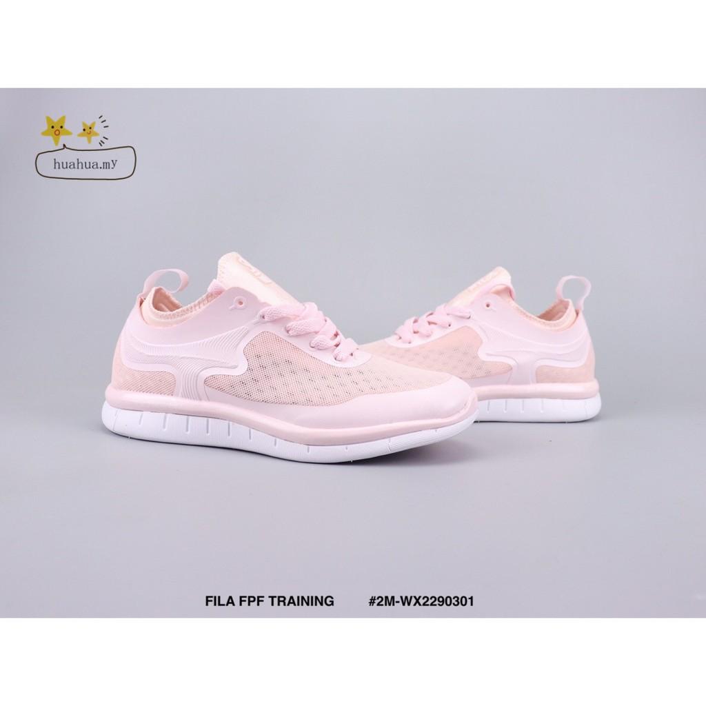 Fila fpf รองเท้าวิ่งสีชมพู