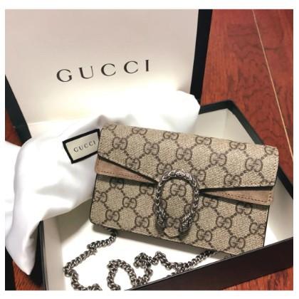 GUCCI Dionysus GG Supreme Super Mini Shoulder Bag Rantai Unta 476432 Spot