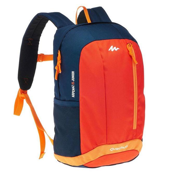 ☄✣เป้เดินป่าพับได้  เป้เดินทางกระเป๋าเป้สะพายหลังเดินป่าสำหรับเด็ก/วัยรุ่นarp15l QUECHUA HB
