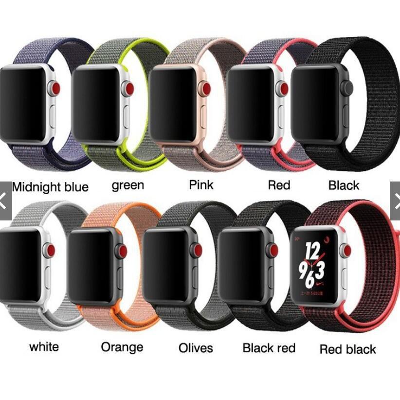 สาย applewatch สายนาฬิกา applewatch สายนาฬิกาข้อมือ Apple Watch สายไนล่อน n38 / 42 / 44 มม.