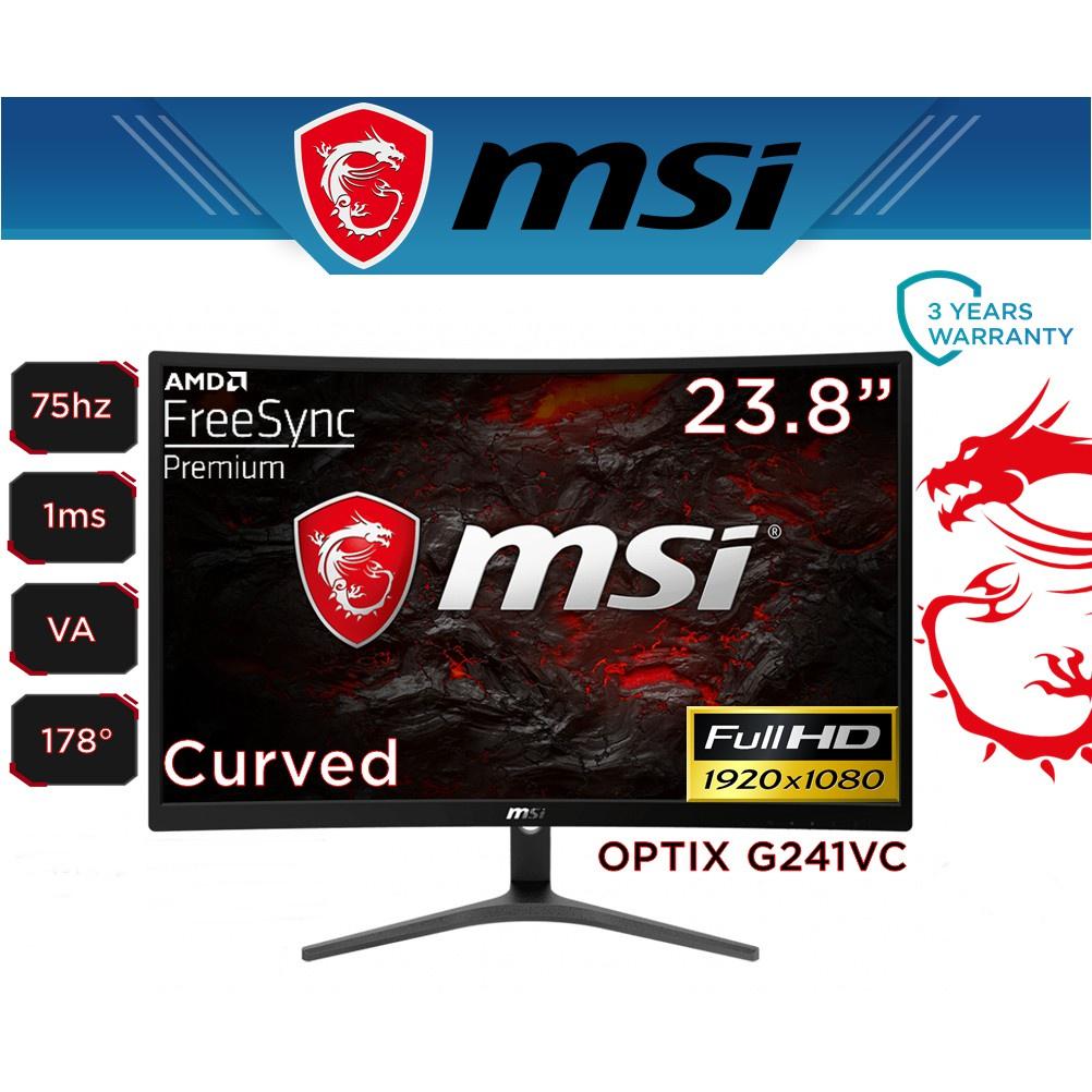 "❈MONITOR (จอมอนิเตอร์) MSI OPTIX G241VC 23.6"" VA 75Hz Warranty 3 - y✪"