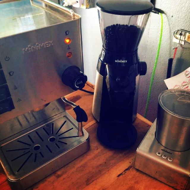 minimex superrich 3 ชิ้น เครื่องชงกาแฟสด เครื่องบดกาแฟ เครื่องทำฟองนม