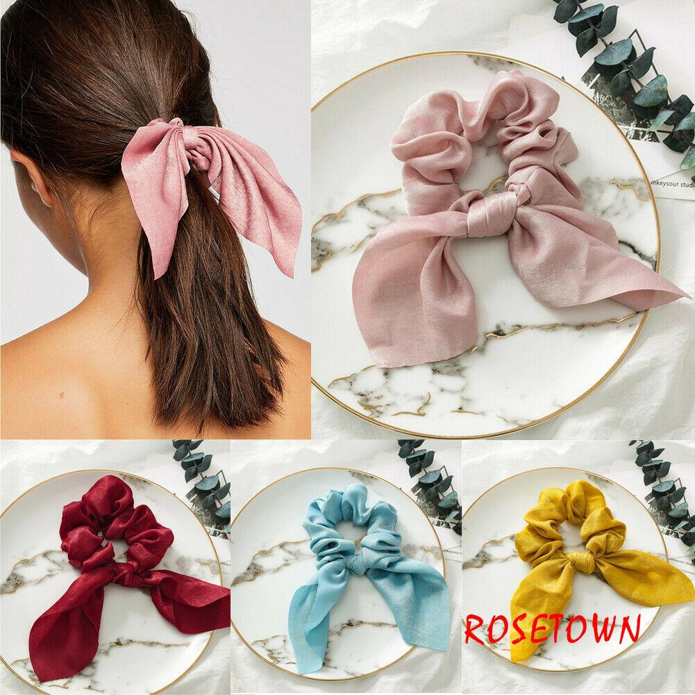 1PC Hair Scarf Ponytail Holder with Long Ribbon Hair Tie Rope Scrunchies Ring