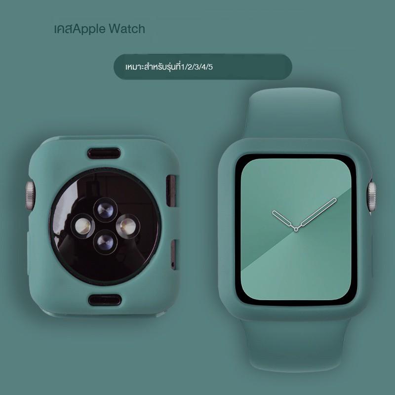 【Apple Watch Strap】ใช้ได้กับเคส Apple watch case iwatch5 4/3/2/1 รุ่น half-pack เคสซิลิโคน TPU series5 ที่มีความต้านท