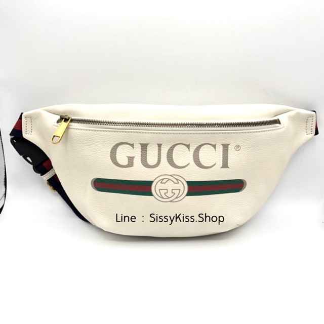 New Gucci Print Belt Bag ใหญ่