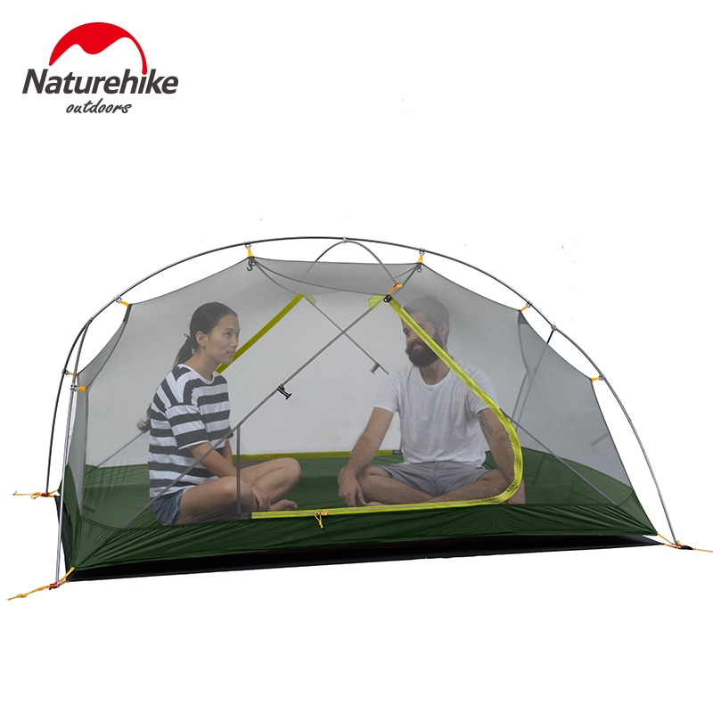 2020 New Naturehike 2020 New Mongar 15D Ultralight Camping Tent 2Persons Nylon Double Layer Waterproof Outdoor Portable
