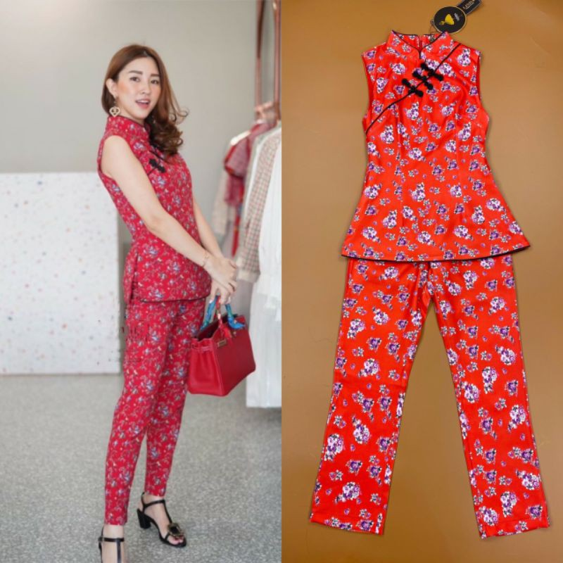 🏷️ LINDA Set กี่เพ้าสีแดงสวย ชุดกี่เพ้า ชุดกี่เพ้าสวยๆ ชุดเซ็ต ชุดตรุษจีน ชุดใส่ตรุษจีน ชุดใส่งานตรุษจีน ชุดสวย ชุดสีแดง