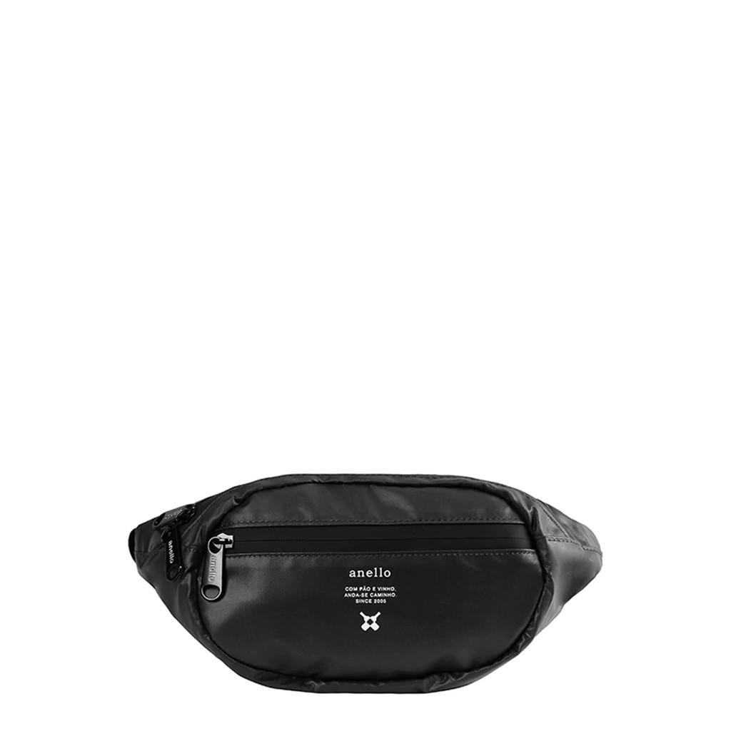 กระเป๋าคาดเอว Anello REG W-Proof Waistbag_OS-N019 สีดำ กระเป๋า ผู้หญิง กระเป๋าคาดอก ANELLO ผลิตจากวัสดุ PVC สามารถกัน