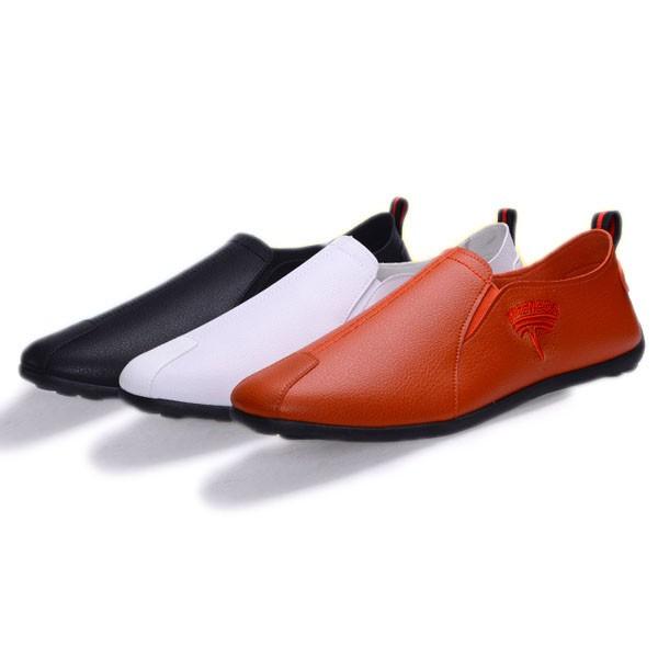 รองเท้าคัชชูผู้ชายทรงโลฟเฟอร์หนังพียูพื้นยางอย่างดี ใส่ได้ทุกโอกาส