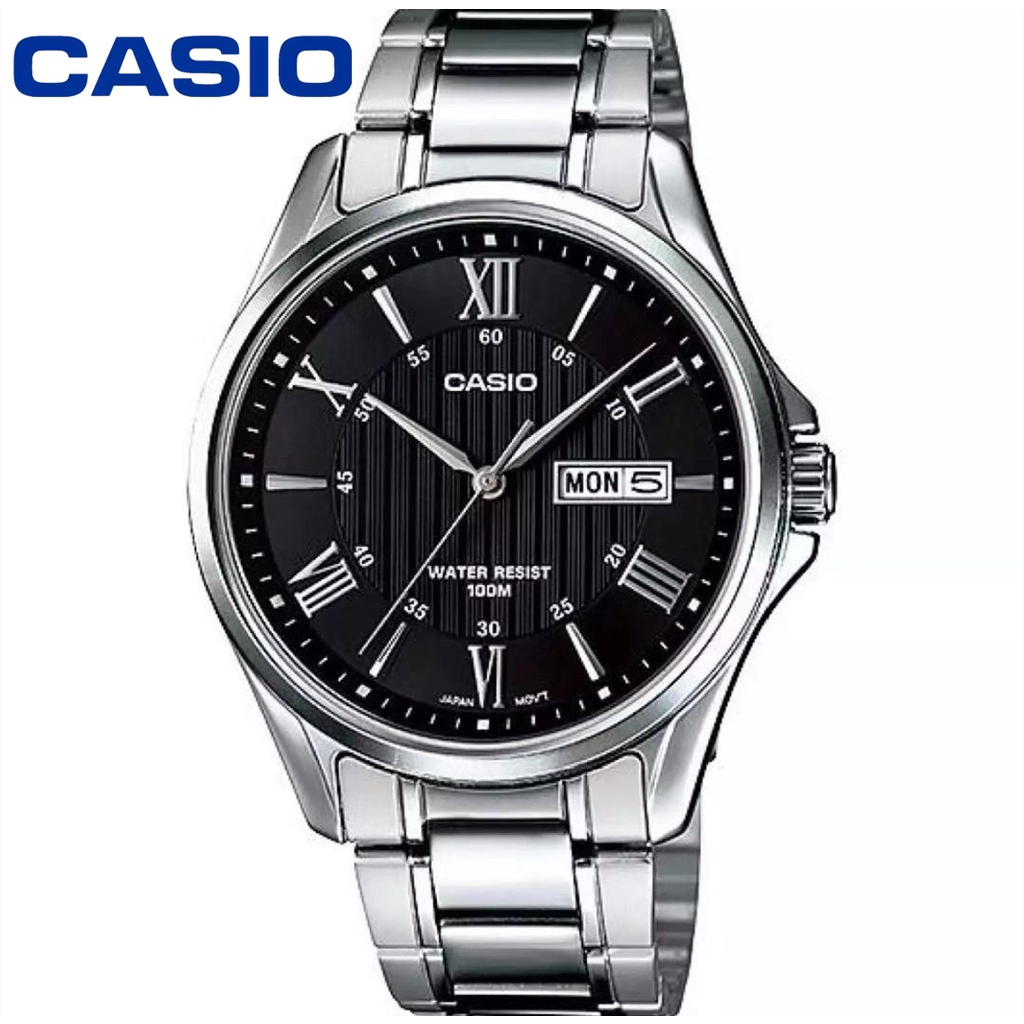 Casio นาฬิกาข้อมือผู้ชาย เลขโรมัน กันน้ำ 100M สายสแตนเลส รุ่น MTP-1384 ยังไม่มีคะแนน