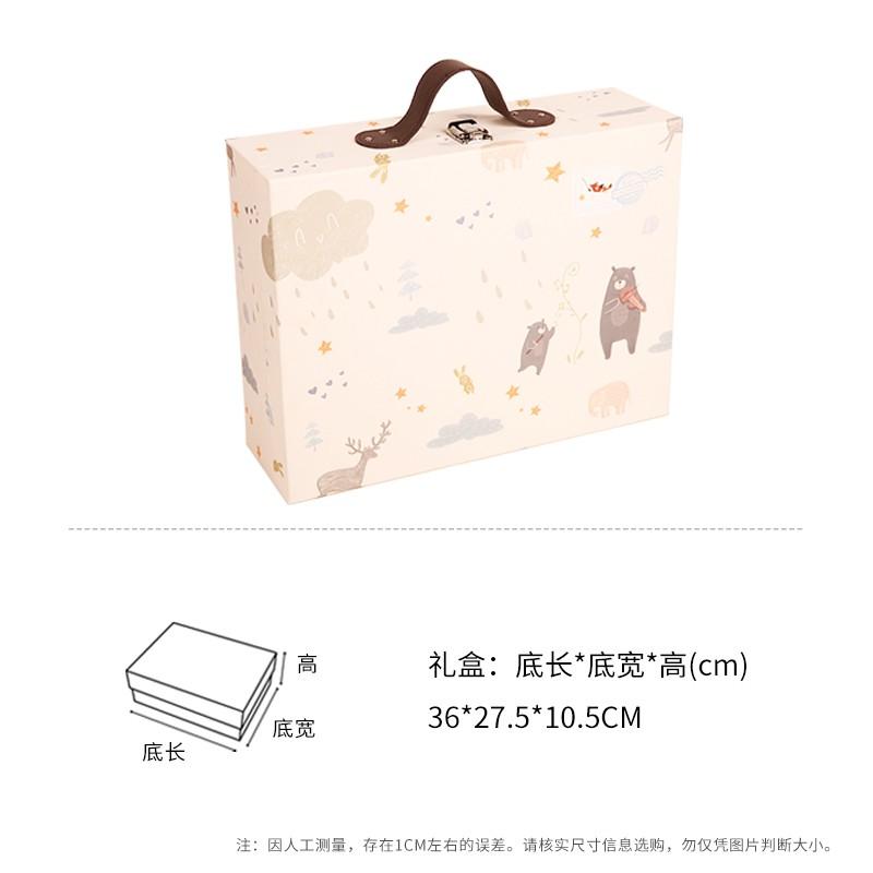 Fangsenyuan เด็กทารกแรกเกิดกระเป๋าเดินทางกล่องบรรจุกล่องของขวัญชุดแม่และเด็กง่าย
