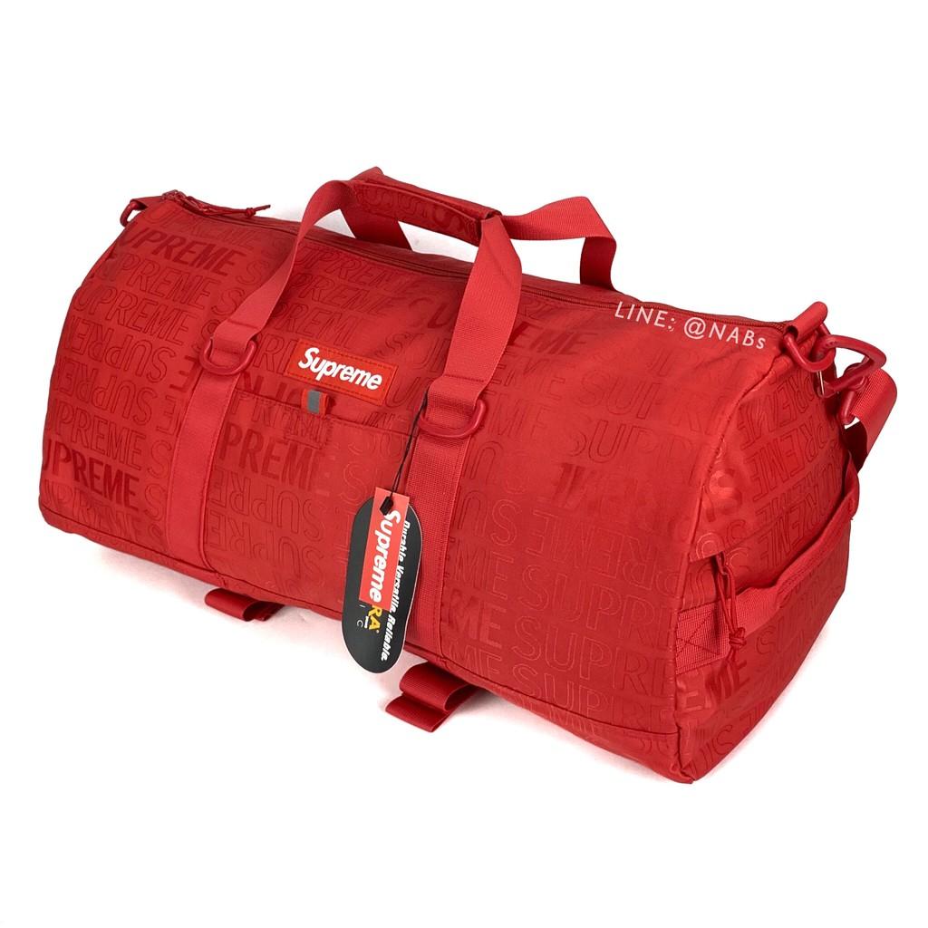 N027- ส่งฟรี !!! กระเป๋าเดินทาง Supreme Duffle Bag SS19 รูปสินค้าจริง พร้อมส่ง กระเป๋าสะพายข้าง กระเป๋าฟิตเนส